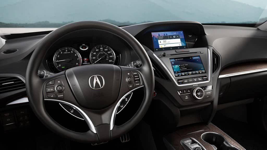 2019 Acura MDX Steering Wheel and Dashboard Features