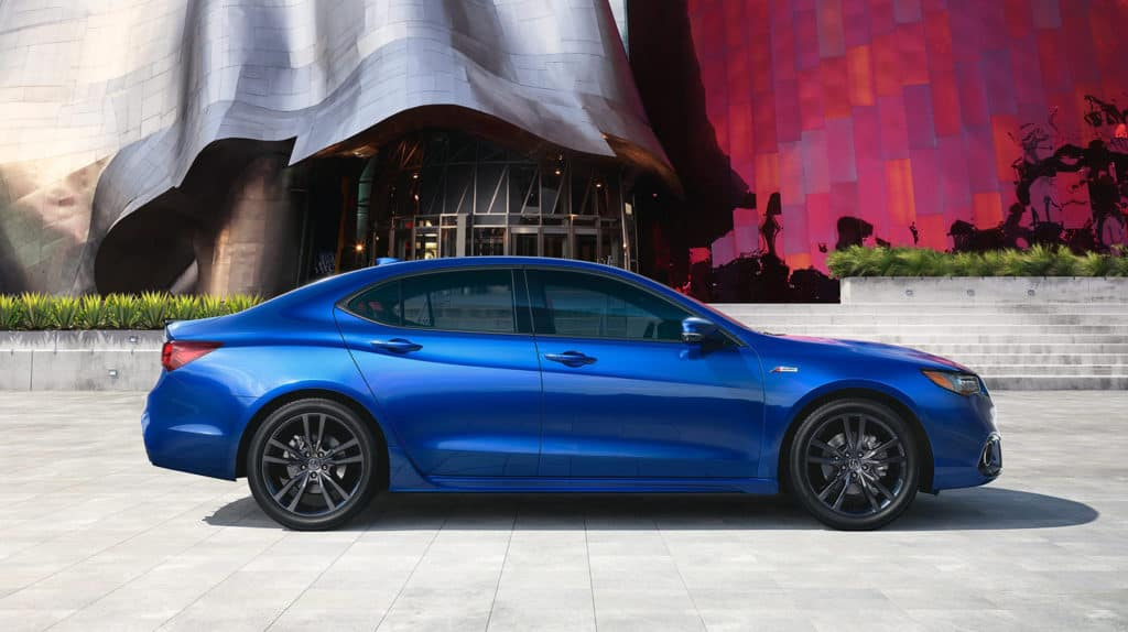 2020 Acura TLX Gallery EXT blue side parked