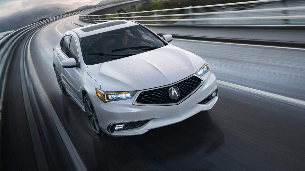 2020 Acura TLX Gallery EXT white front storm bridge race