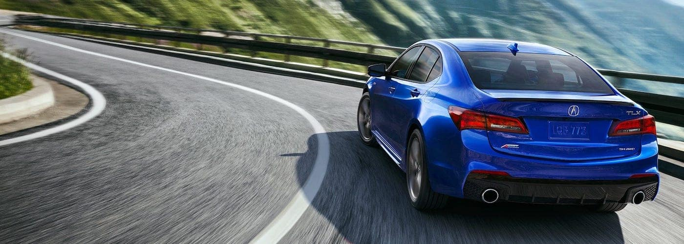 Blue 2019 Acura TLX A-Spec on Highway