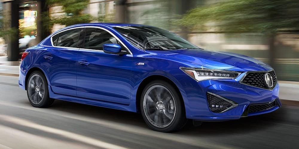 Blue 2020 Acura ILX A-Spec on City Road