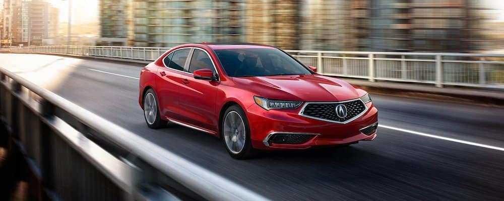 Red 2020 Acura TLX on Highway