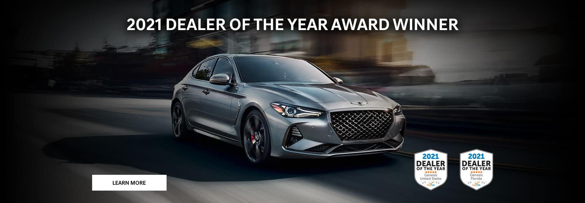 2021 Dealer of the Year Award Winner