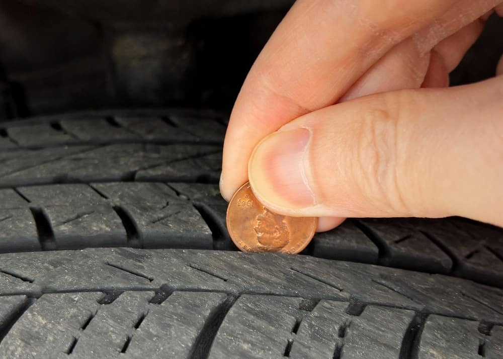 Check Tire with Penny