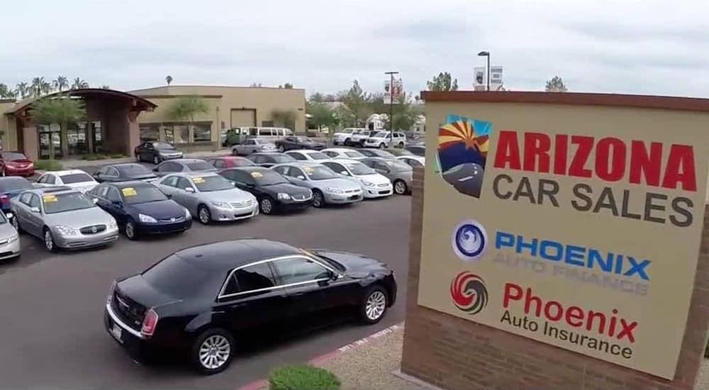 Arizona Car Sales selection of used cars for sale in Mesa, AZ, is shown.