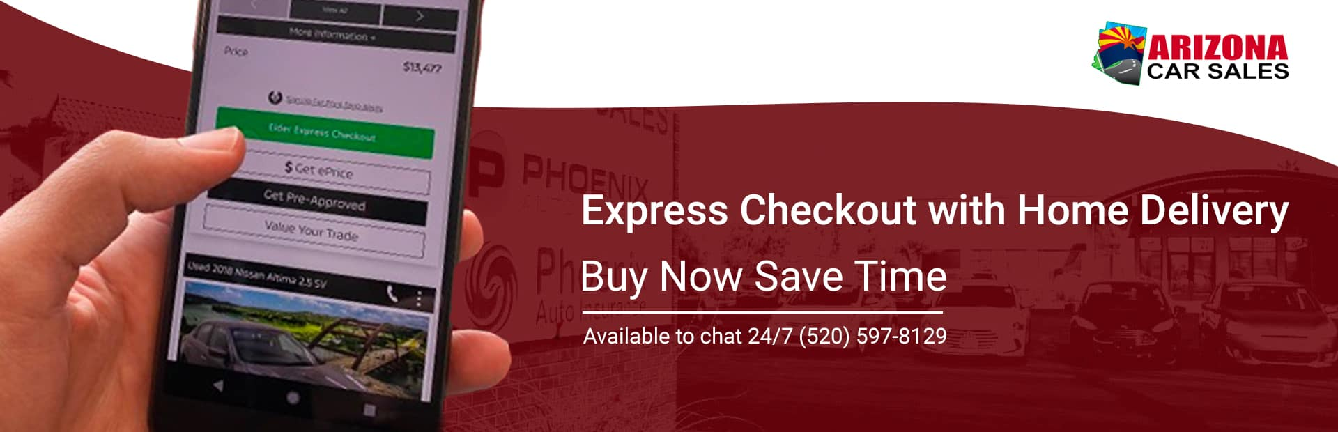 Express checkout with home delivery buy now, save time