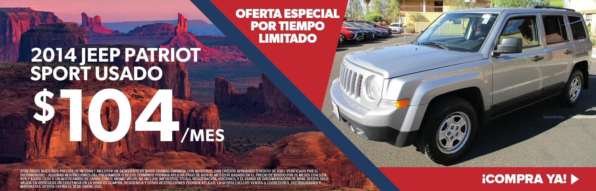 2014 Jeep Patriot Usado