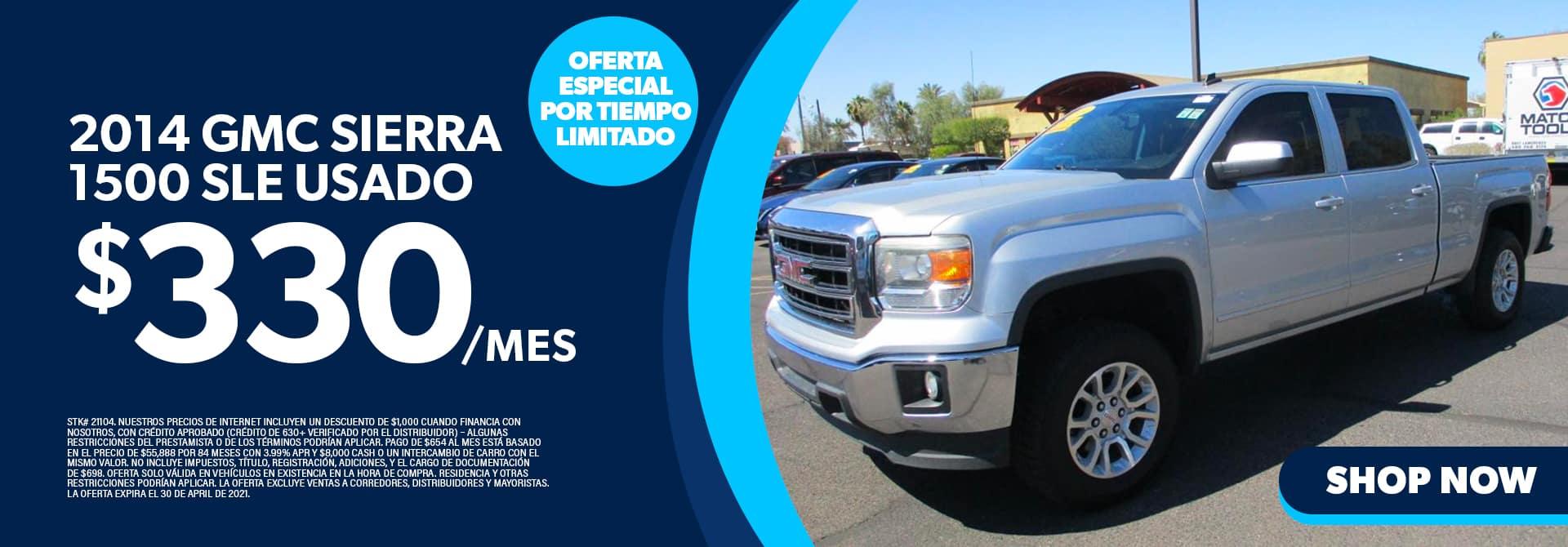 2014 GMC Sierra 1500 SLE Usado