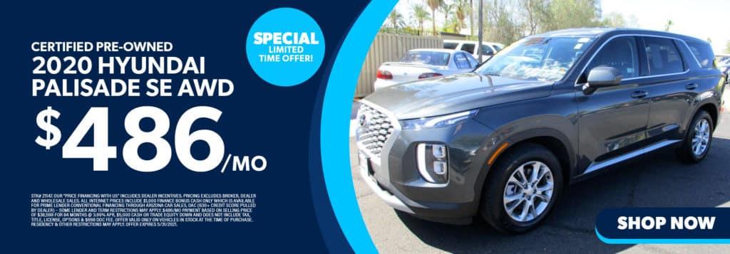 Certified Pre-Owned 2020 Hyundai Palisade SE AWD
