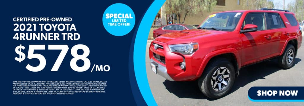 Certified Pre-Owned 2021 Toyota 4Runner TRD