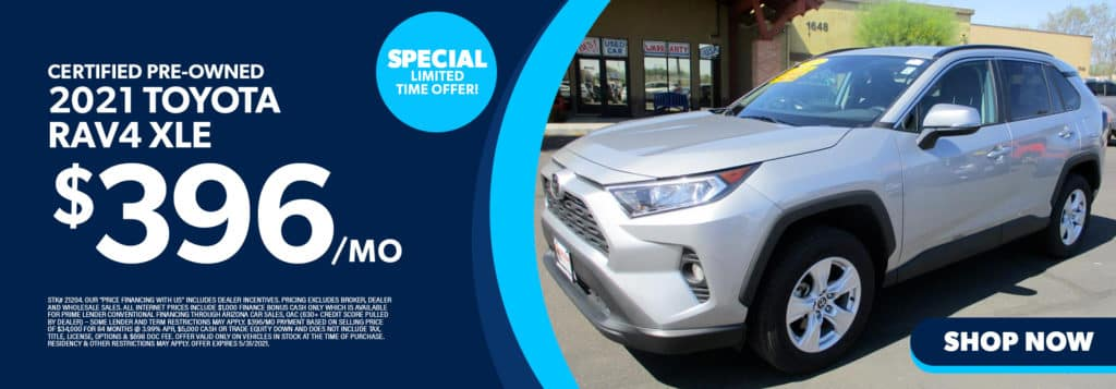 Certified Pre-Owned 2021 Toyota RAV4 XLE