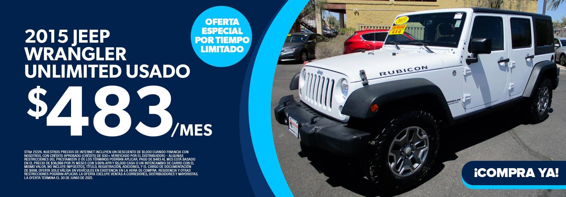 2015 Jeep Wrangler Unlimited Usado