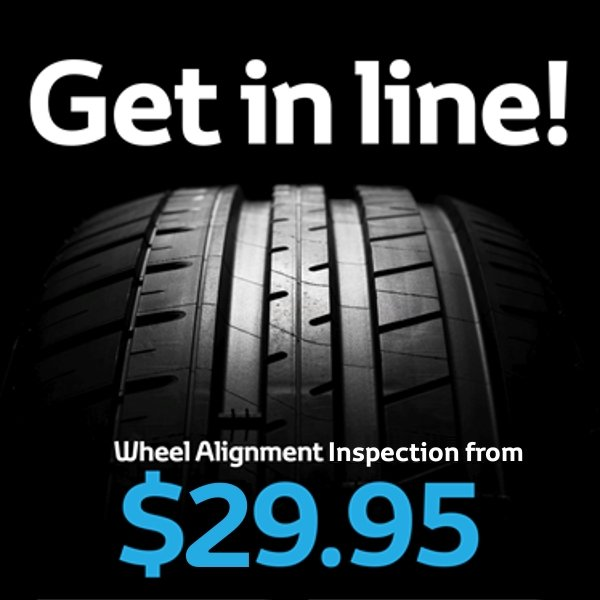Wheel Alignment Inspection $29.95