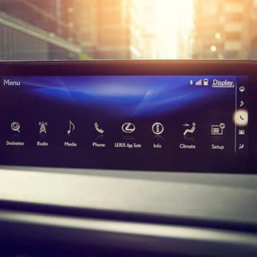 2017 Lexus RX multimedia display