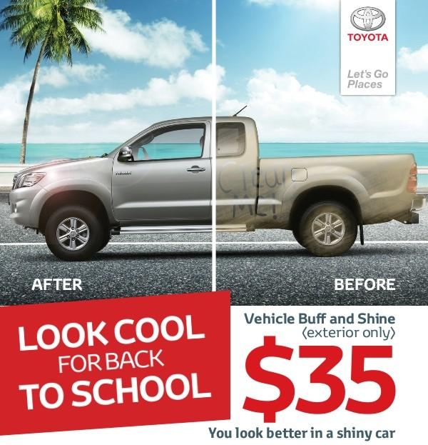Vehicle Buff and Shine $35