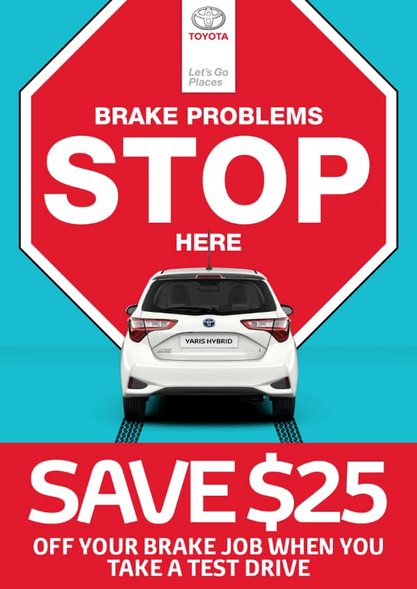 $25 off your brake job with test drive