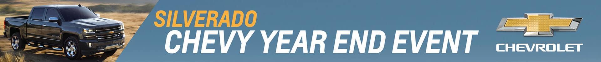 Chevrolet Silverado Year End Event Banner