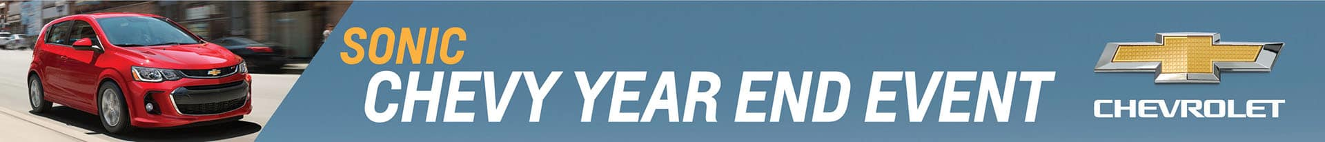 Chevrolet Sonic Year End Event Banner