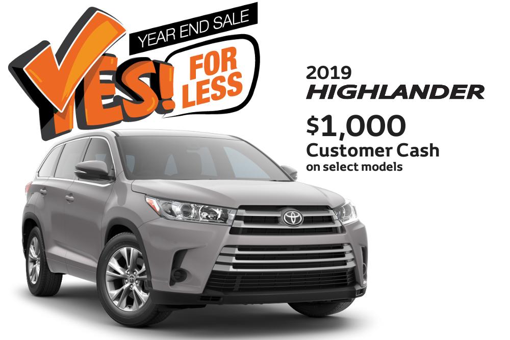 $1,000 Customer Cash on select Models