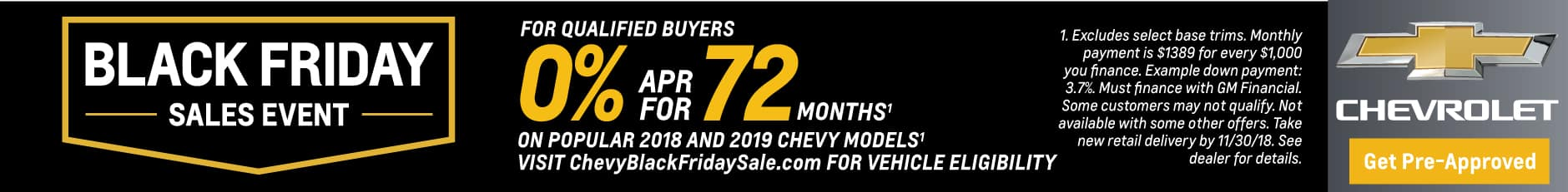 Chevy Black Friday Sale