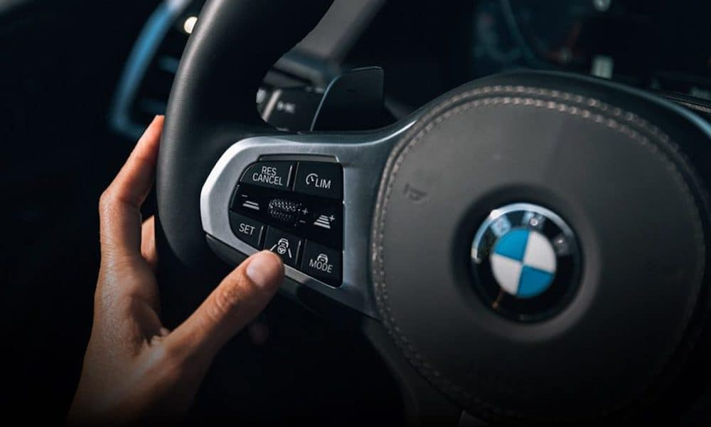 BMW Steering Wheel Up Close