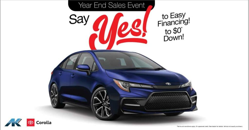 Say YES! to Corolla
