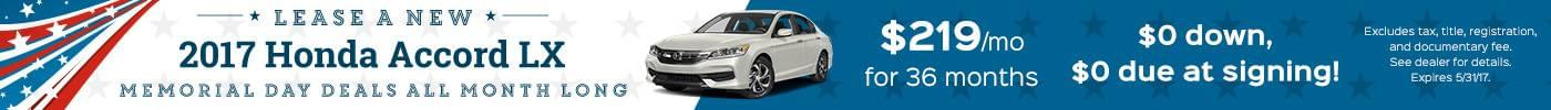 Honda May Lease Offers