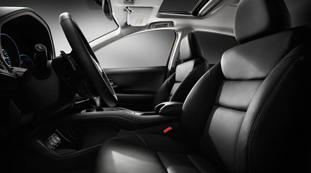 2018 Honda HR-V with leather-trimmed interior