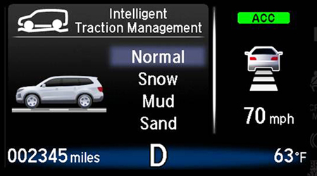 2018 Honda Pilot Intelligent Traction Management