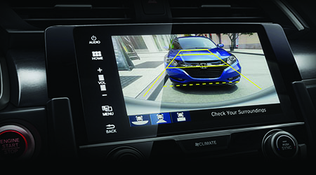 2017 Honda Civic Multi-Angle Rear View Camera