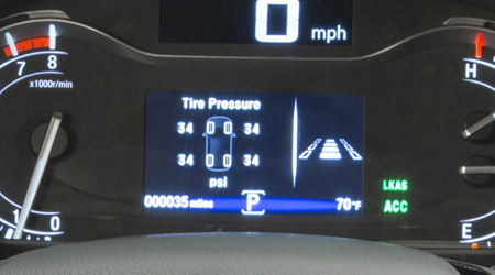 2018 Honda Pilot TPMS with Tire Fill Assist