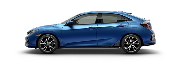 2018 Honda Civic Hatchback Aegean Blue Metallic