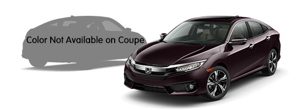 2017 Honda Civic Sedan Burgundy Night Pearl