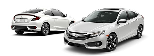 2018 Honda Civic White Orchid Pearl