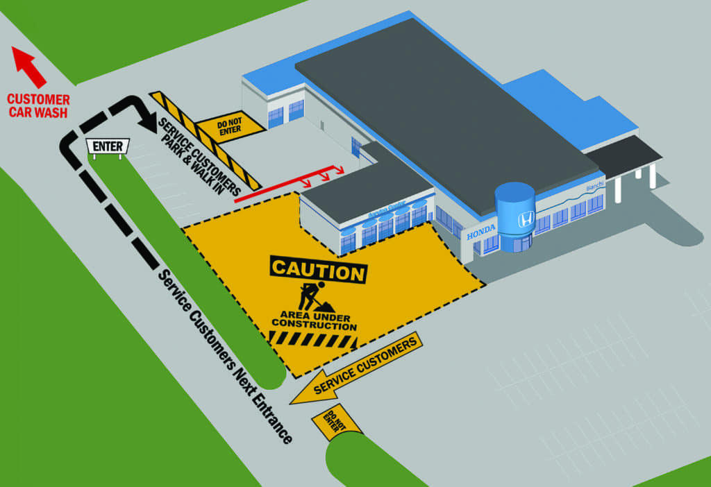 Service Department Map