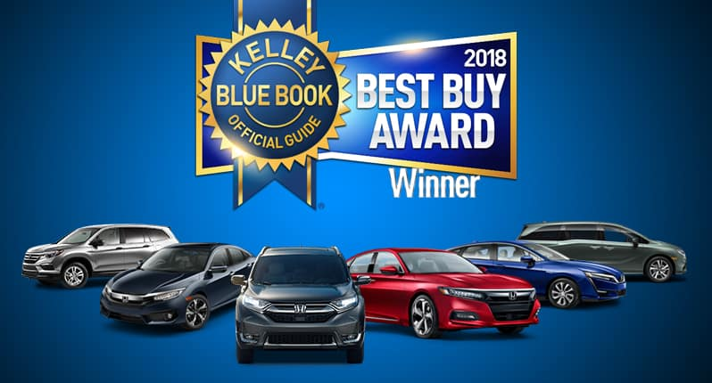 Kelley Blue Book Awards - Honda Winners