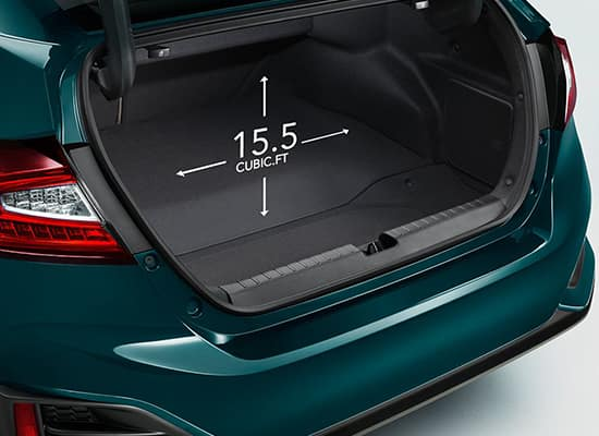 2019 Honda Clarity Plug-In Hybrid 15.5 Cubic Foot Trunk Capacity