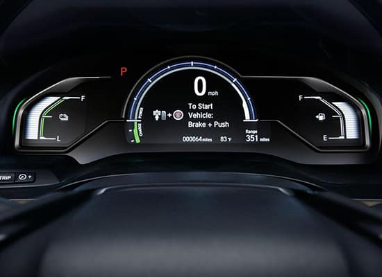 2019 Honda Clarity Plug-In Hybrid Driver Digital Information Interface