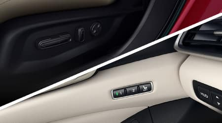 2018 Honda Accord 12-Way Power Driver Seat and Two Position Memory