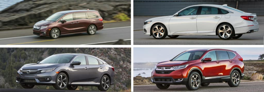 Family vehicles from Honda