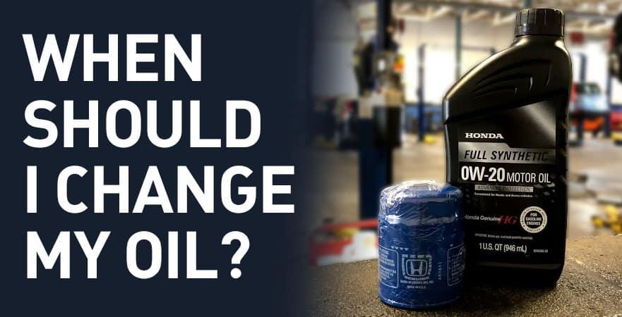 When Should I Change My Oil? | Bianchi Honda