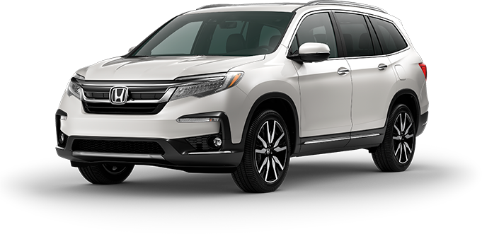 2019 Honda Pilot in White Diamond Pearl