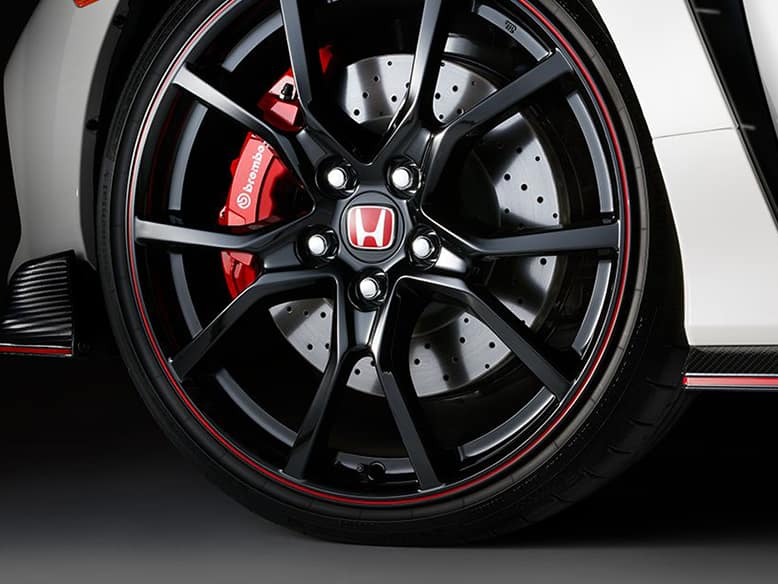 Civic Type R 20-inch black alloy wheels