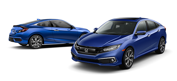 2019 Honda Civic Aegean Blue Metallic