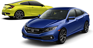 2019 Honda Civic Coupe and Sedan Sport