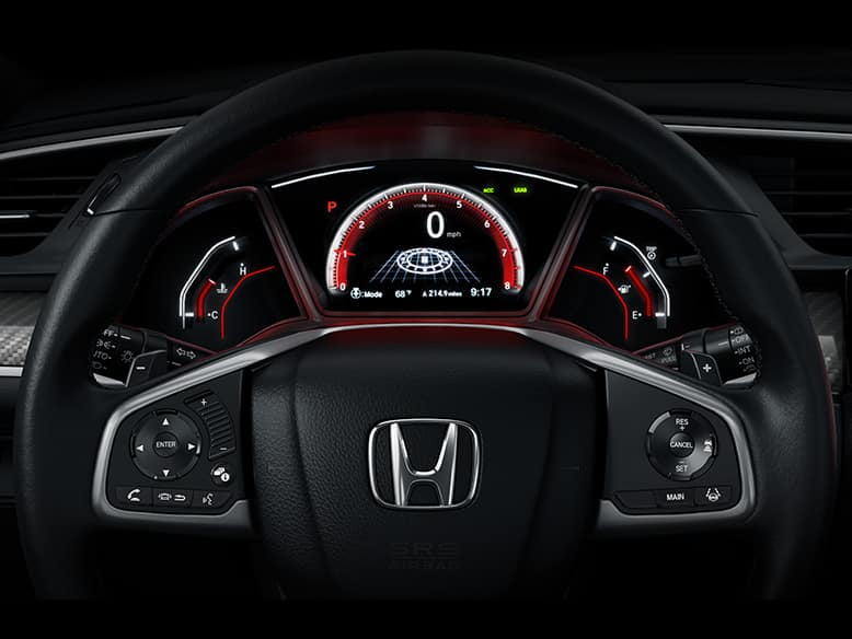 2019 Honda Civic hatchback with paddle shifters