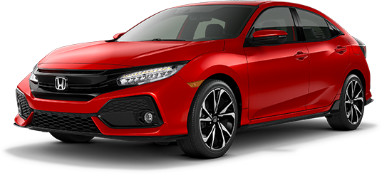 2019 Honda Civic Hatchback Rallye Red