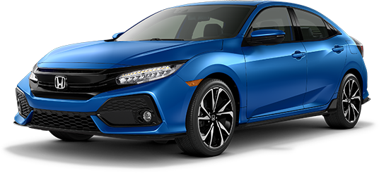 2019 Honda Civic Hatchback Aegean Blue Metallic