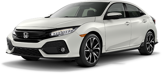 2019 Honda Civic Hatchback White Orchid Pearl