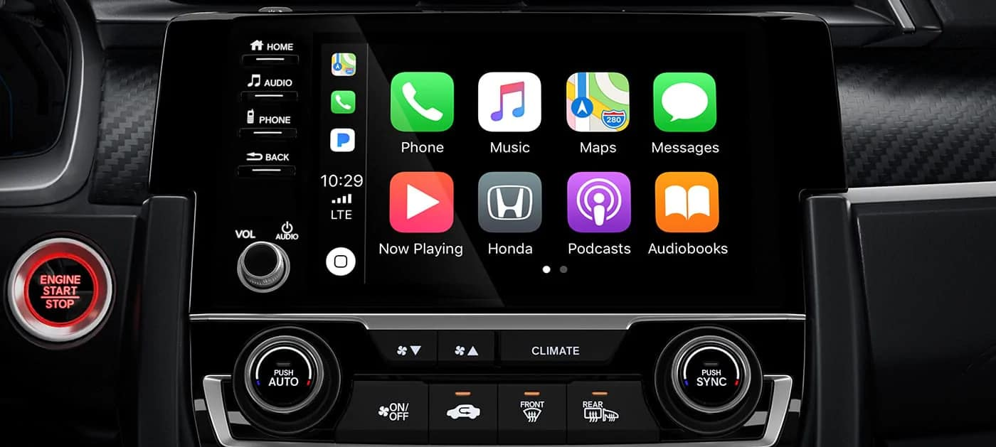 2020 Honda Civic Si apple carplay integration